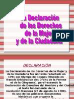 La Declaración de los Derechos de la Mujer y de la Ciudadana