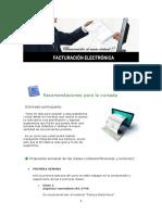 Recomendaciones para la cursada-Factura Electronica