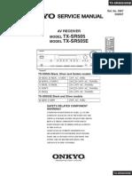 TXSR505 Sm and Parts