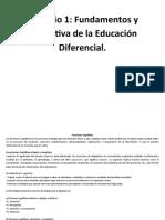 Fundamentos de La Educación Diferencial
