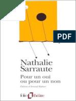 Nathalie Sarraute - Pour Un Oui Ou Pour Un Non [FR]