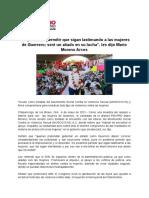 """04-05-2021 """"No podemos permitir que sigan lastimando a las mujeres de Guerrero; seré un aliado en su lucha"""", les dijo Mario Moreno Arcos"""