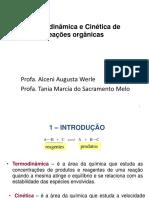 Termodinâmica e Cinética de reações orgânicas