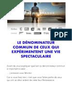 eBook Cadeau Le Dénominateur Commun V3 RNS 2021 Max Piccinini