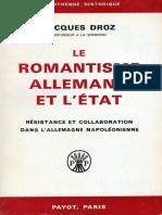 Jacques Droz - Le Romantisme Allemand Et L'État (1966, Payot) - Libgen.lc