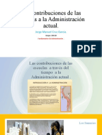 Las Contribuciones de Las Escuelas a La Administración