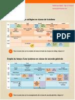 Emploi Du Temps Des Élèves en France