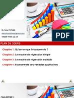 Econométrie Introduction