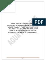 memoria de calculo AGUA POTABLEbombeo