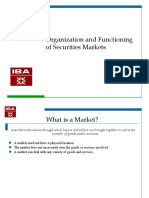 Organisation and function of securities markets