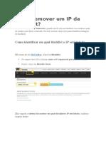 Como Remover Um IP Da Blacklist
