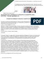ATUAÇÃOO DO CONSELHO TUTELAR E A QUESTÃO DAS DROGAS - Revista