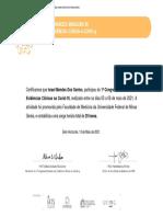 Certificado de participação Israel mendes