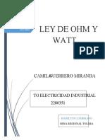 LEY DE OMH Y WATT GUIA 3