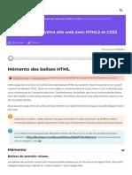 Mémento des balises HTML - Apprenez à créer votre site web avec HTML5 et CSS3 - OpenClassrooms_1604254755777