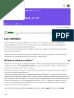 Les variables - Apprenez à développer en C# - OpenClassrooms_1604839230320