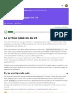 La syntaxe générale du C# - Apprenez à développer en C# - OpenClassrooms_1604255914636