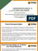 Aula o Exame Neuropsicológico. o Que é e Para Que Serve