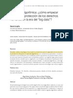 ALGORITMOS, BIG DATA, TRANSPARENCIA, GEOLOCALIZACION
