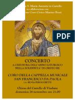 Viadana 26 Nov 2017 - Locandina Concerto
