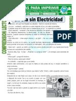 Ficha Un Día Sin Electricidad Para Tercero de Primaria