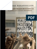 La Contrademocracia by Rosanvallon Pierre