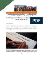 Las Lenguas Tibetanas y Su Desarrollo a Lo Largo Del Tiempo