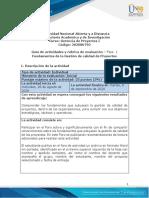 Guía de actividades y rúbrica de evaluación - Fase 1-Fundamentos de la Gestión de calidad de Proyectos