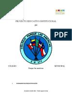 PROYECTO EDUCATIVO INSTITUCIONAL 2021