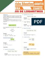 Ejercicios de Logaritmos Para Cuarto Grado de Secundaria