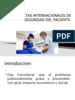 METAS INTERNACIONALES DE SEGURIDAD DEL PACIENTE