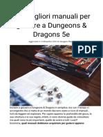I 10 Migliori Manuali Per Giocare a Dungeons