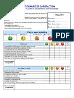 Questionnaire de satisfaction_service de soins