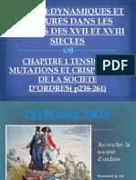 TENSIONS,MUTATIONS ET CRISPATIONS DE LA SOCIETE D'ORDRES