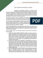Organização financeira - PAV