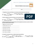 Ficha de Trabajo Determinantes