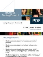 Routed vs Routing Protokol