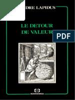 André Lapidus - Le Détour de valeur (1986, Economica) - libgen.li (1)