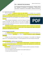 U4 - ORGANISATION DISCURSIVE - Théorie