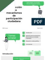 Introducción a los mecanismos de participación ciudadana