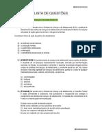 LISTA DE QUESTÕES 4 - ESTATUTO DA CRIANÇA E DO ADOLESCENTE