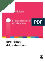 Guia didactica. Unidad 01 - Valores eticos 2 ESO Teide
