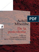 Achile Mbembe - De la postcolonie