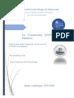 Dossier coronavirus Ontario