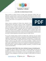 TeleSur Libre Press Release (1)