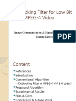 Deblocking Filter for Low Bit Rate MPEG-4 Video
