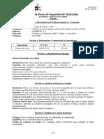 MSDS Cloruro de Calcio