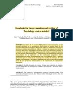 Estandares para la preparación y la escritura de artículos de revisión de psicología