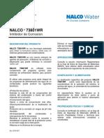 Nalco 73801WR - Inhibidor de Corrosión - Hoja Técnica
