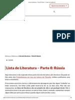Lista de Literatura – Parte 8_ Rússia - Contra os Acadêmicos